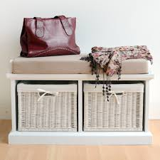 tetbury hallway bench with storage baskets storage bench with