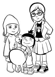 movie despicable me 2 coloring pages for kids despicable me 9621