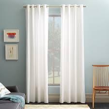 Cotton Canvas Curtains Cotton Canvas Grommet Curtain White West Elm