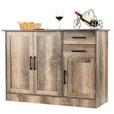 buffet sideboard cabinet storage kitchen hallway table industrial rustic console cabinet in sideboards buffets for sale in stock