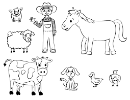 pictures farm animals color coloring pages