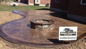 Backyard Stamped Concrete Patio Ideas Fire Pits Cincinnati Stamped Concrete Patio Cincinnati Fire Pit