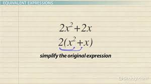 writing equivalent expressions definition u0026 examples video