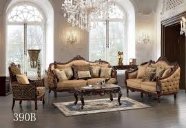 traditional style formal living room furniture brown sofa set