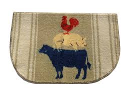 cow pig rooster kitchen rug country decor add some farm charm to