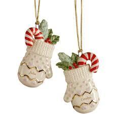 best friends 2 pc mitten ornament set by lenox lenox 2