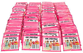 one direction cards panini one direction sticker pack closeout lot of 200 4 boxes