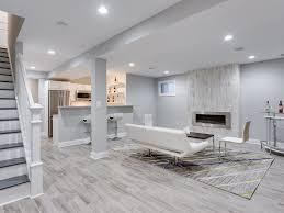 Carpet Tiles For Basement - carpet tiles for modern minimalist grey basement family room with