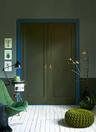 vtwonen verflijn pine ocean army green interiors pinterest