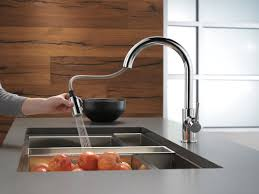High Rise Kitchen Faucet by Delta Trinsic Kitchen 15
