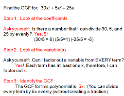 factoring polynomials using gcf systems of equations
