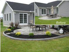 Backyard Cement Patio Ideas Beautiful Colors Stained Concrete Patio Design Ideas Landscaping
