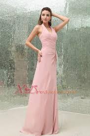 light pink halter dress light pink halter prom dress with brush train chiffon 156 51
