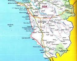 Goa Map October 2011 Vagrantvoyager