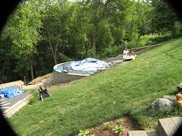 Steep Hill Backyard Ideas Newbie Agp Install On Steep Slope Mn