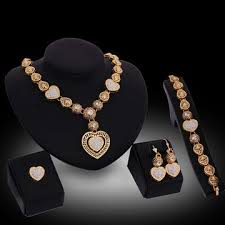 crystal heart necklace wholesale images China new 18k gold plated jewelry set from jinhua wholesaler jpg