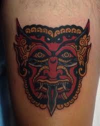 awesome full back hindu god tattoo