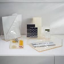 clear acrylic desk organizer clear acrylic desk accessories stationery organizer desk set for