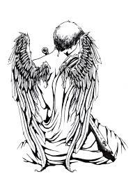 angel sitting alone tattoo design photos pictures and sketches