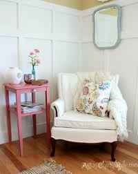Skirted Vanity Chair Thrifty French Chair Makeover Annie Sloan Chalk Paint Artsy