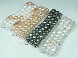 pearl bracelet elastic images Three rows stretch freshwater pearl bracelet on wholesale aim jpg
