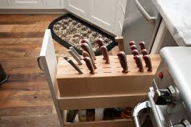 how to store kitchen knives modern kitchen with pull out knife storage store your knives