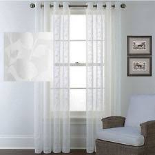 Curtains 145 Cm Drop Polyester Sheer Window Curtains Ebay