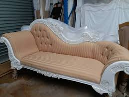 Shabby Chic Chaise Lounge by Beige With Black Velvet French Provincial Chaise Lounge Sofas
