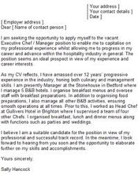 Sample Resume For Chef Position by Sample Executive Chef Cover Letter Http Www Resumecareer Info