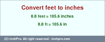 8 feet in inches 8 8 ft in inches convert 8 8 feet to inches inchpro com