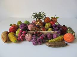 68 best vintage beaded fruit and vegetables images on
