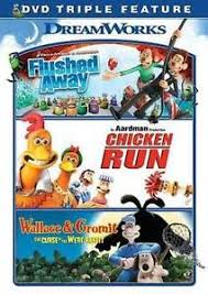 flushed chicken run wallace gromit dvd 32429152718 ebay