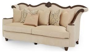 wood trim sofa victoria palace wood trim sofa traditional sofas by