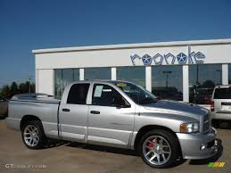 2005 bright silver metallic dodge ram 1500 srt 10 quad cab