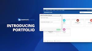 new feature on teamwork projects portfolio teamwork com