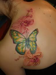 collection of 25 butterfly color stomach cover up tattoos