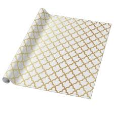 moroccan wrapping paper modern gold foil moroccan trellis white wrapping paper