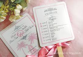 wedding ceremony program fans wedding card malaysia crafty farms handmade fairytale