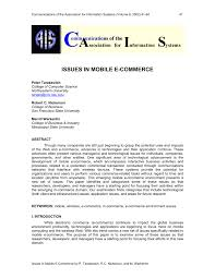 issues in mobile e commerce pdf download available