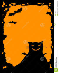 halloween border with cat royalty free stock photos image 1409518