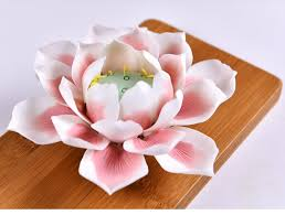 Desktop Decorations Ceramic Lotus Ornament Handmade Desktop Decorations Pure Lotus