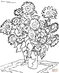 coloring page for van starry night coloring page van gogh inofations for your design