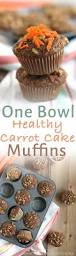 1 bowl healthy carrot cake muffins