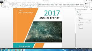 format buku di microsoft word how to make a cover page design for report and book in microsoft