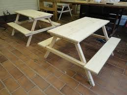 Wood Picnic Table Plans Free by 50 Free Diy Picnic Table Plans For Kids And Adults