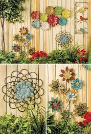 Garden Decorating Ideas Backyard Fence Decorating Ideas Homitco Decorations For Fences