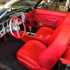 1970 Chevelle Interior Kit Chevelle Convertible Red And Black And Grey Fesler Custom