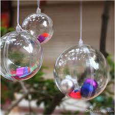 christmas decorations openable transparent plastic christmas ball