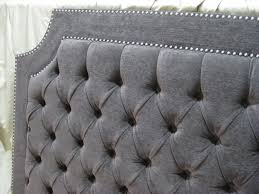 Nail Button Wingback Bed by Gray Tufted Headboard My Tufted Bed A Review Of The Skyline Linen