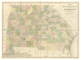 State Map Of Georgia by Old Maps Of Georgia